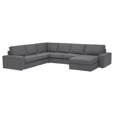 KIVIK divano angolare a 5 posti con chaise-longue/Skiftebo grigio scuro 163 cm 95 cm 83 cm 124 cm 347 cm 257 cm 24 cm 60 cm 45 cm