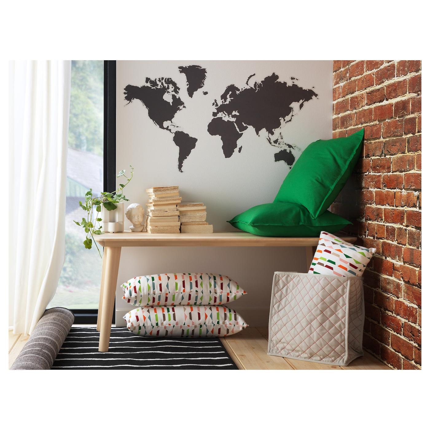 Cartina Mondo Ikea.Klatta Decorazione Autoadesiva Mondo Lavagna 60x103 Cm Ikea Svizzera