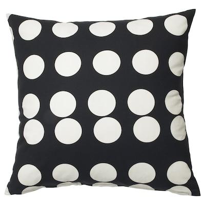 KLARASTINA Fodera per cuscino, nero/bianco, 50x50 cm