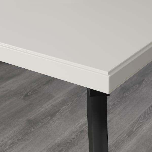 KLIMPEN / LALLE Tavolo, grigio chiaro/nero, 150x75 cm
