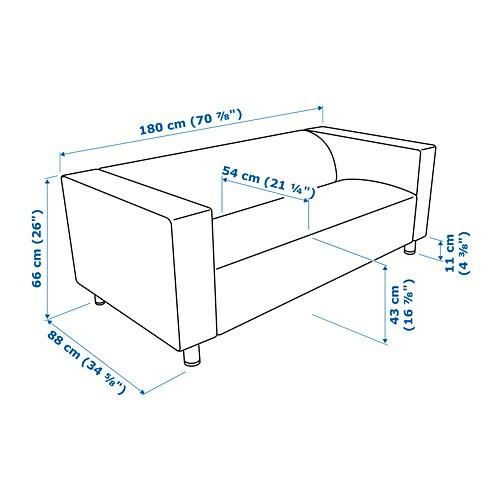 KLIPPAN Divano A 2 Posti   Vissle Grigio   IKEA