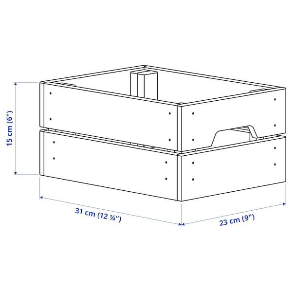 KNAGGLIG Contenitore, pino, 23x31x15 cm