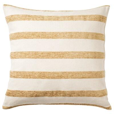 KNIPPARV cuscino naturale giallo oro/a righe 50 cm 50 cm 750 g 1010 g