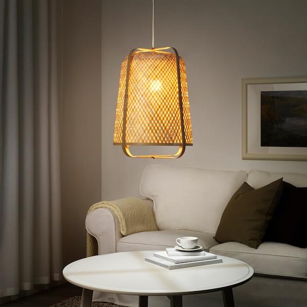 KNIXHULT Lampada a sospensione, bambù/fatto a mano