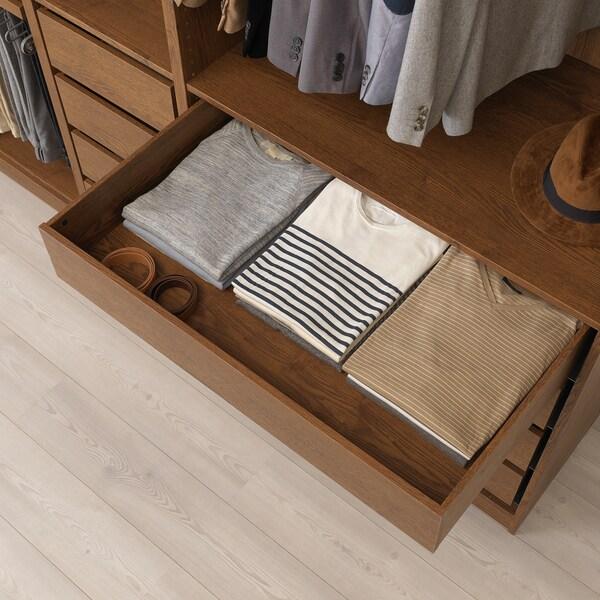 KOMPLEMENT Cassetto, effetto frassino mordente marrone, 100x58 cm