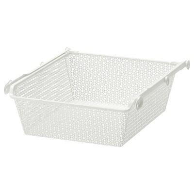 KOMPLEMENT Cestello metallo/binario estraibile, bianco, 50x58 cm