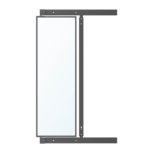 Specchi Con Cornice Ikea.Komplement Specchio Estraibile Con Ganci Grigio Scuro