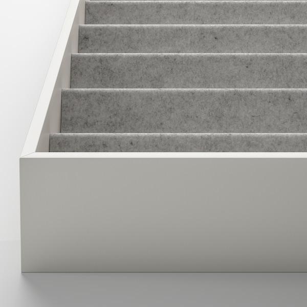 KOMPLEMENT Struttura interna con scomparti, grigio chiaro, 40x53x5 cm