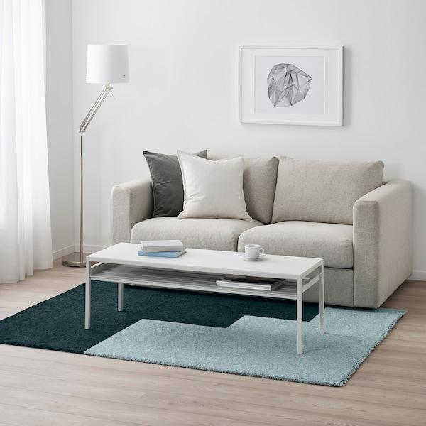 KONGSTRUP Tappeto, pelo lungo, azzurro/verde, 133x195 cm