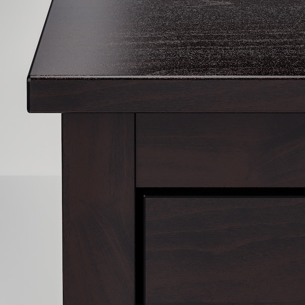 KOPPANG Cassettiera con 6 cassetti, marrone-nero, 172x83 cm