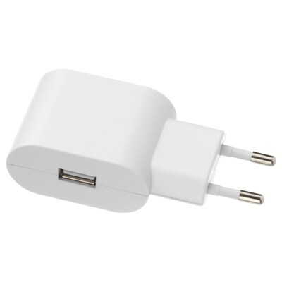 KOPPLA caricabatteria USB con 1 porta bianco 46 mm 39 mm