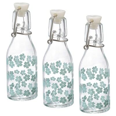 KORKEN Bottiglia con tappo, fantasia, 15 cl
