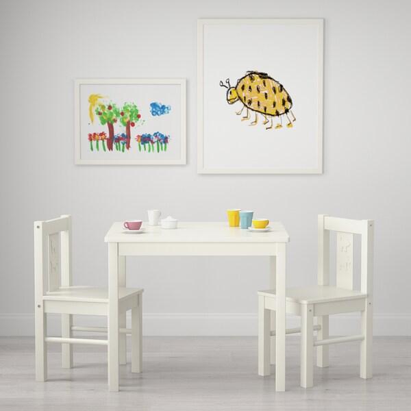 KRITTER Tavolo per bambini, bianco, 59x50 cm