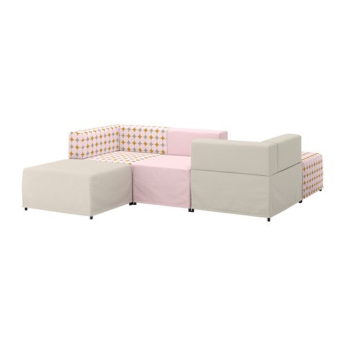 Divani Componibili Ikea.Kungshamn Divano A 3 Posti Componibile Idekulla Rosa Beige Yttered Fantasia