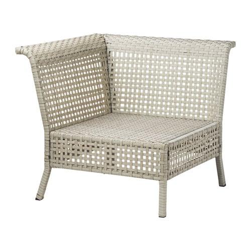 Kungsholmen seduta angolare da giardino grigio chiaro ikea for Divani da giardino ikea