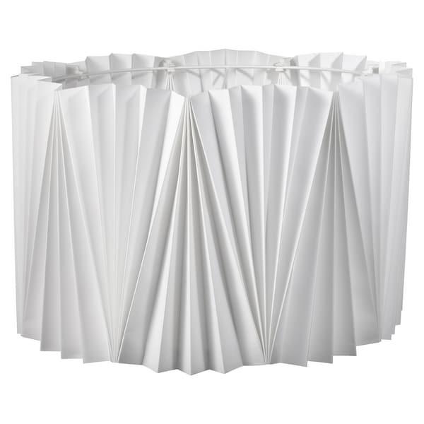 KUNGSHULT Paralume, plissettato bianco, 42 cm