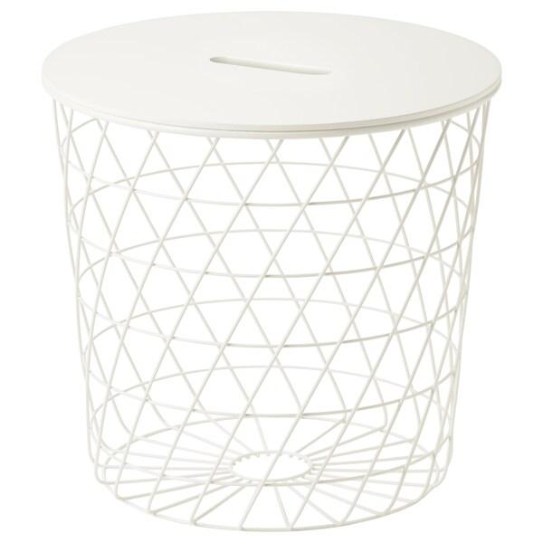 KVISTBRO Tavolino/contenitore, bianco, 44 cm