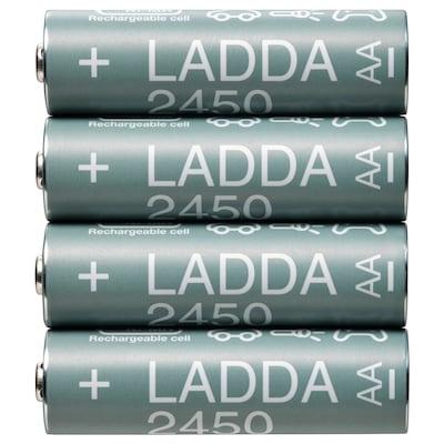LADDA Batteria ricaricabile, HR06 AA 1,2 V, 2450mAh