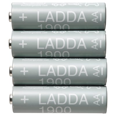LADDA Batteria ricaricabile, HR06 AA 1,2 V, 1900mAh