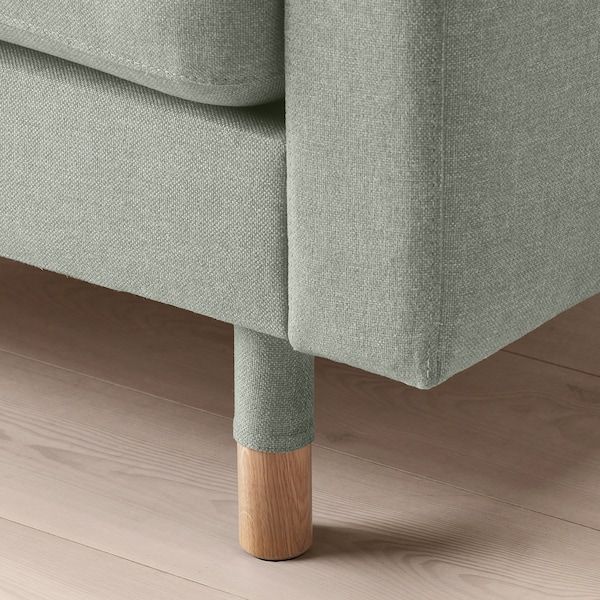 LANDSKRONA Chiase-longue, elemento supplem., Gunnared verde chiaro/legno