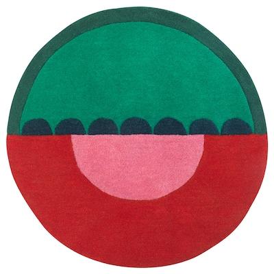 LANGESÖ Tappeto, pelo corto, rosso/verde, 70 cm
