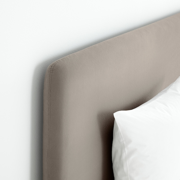 LAUVIK sommier Hamarvik semirigido/Tuddal beige scuro 210 cm 140 cm 120 cm 200 cm 140 cm