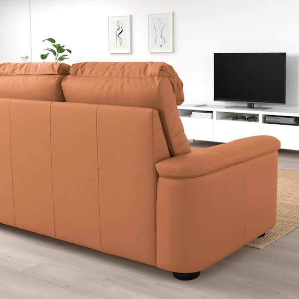 LIDHULT divano a 2 posti Grann/Bomstad ocra bruna 102 cm 76 cm 189 cm 98 cm 7 cm 141 cm 53 cm 45 cm