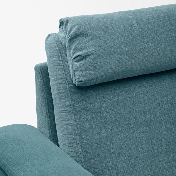 LIDHULT Chaise-longue, Gassebol blu/grigio
