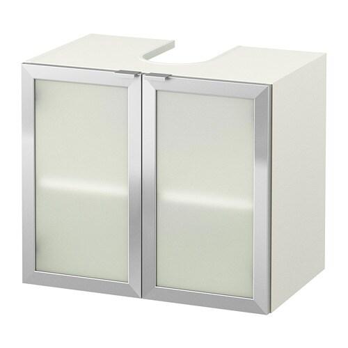 Lillången Mobile Base Per Lavabo Con 2 Ante Biancoalluminio Ikea