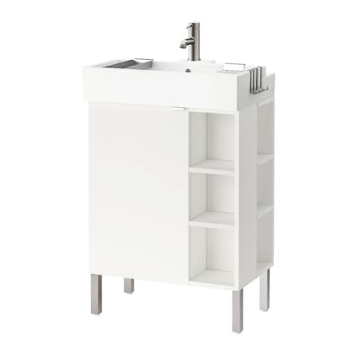 Lill ngen mobile lavabo 1anta 2elementi term inox bianco 61x41x92 cm ikea - Mobile lavabo ikea ...