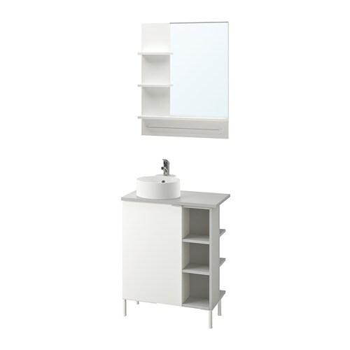 LILLÅNGEN/VISKAN / GUTVIKEN Set di 8 mobili per il bagno ...