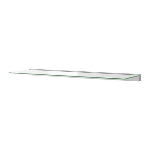 Linjal mensola in vetro vetro trasparente ikea - Ikea mensole vetro ...