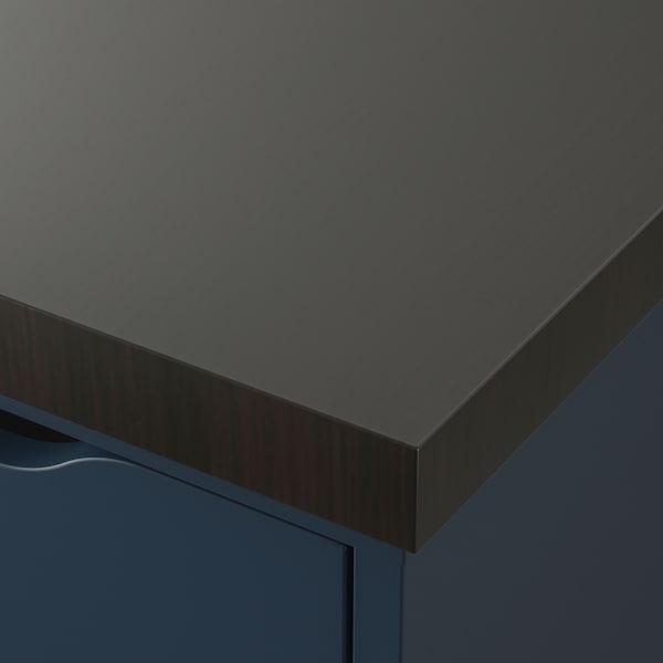 LINNMON / ALEX Tavolo, marrone-nero/blu, 200x60 cm