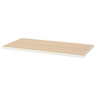 LINNMON Piano tavolo, bianco/effetto rovere con mordente bianco, 120x60 cm