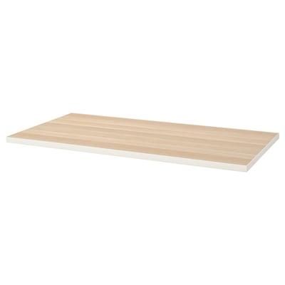 LINNMON Piano tavolo, bianco/effetto rovere con mordente bianco, 150x75 cm