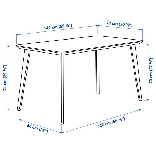 LISABO / LISABO Tavolo e 4 sedie, impiallacciatura di frassino/frassino, 140x78 cm