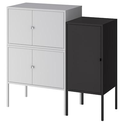 LIXHULT Combinazione di mobili, grigio/antracite, 95x35x92 cm