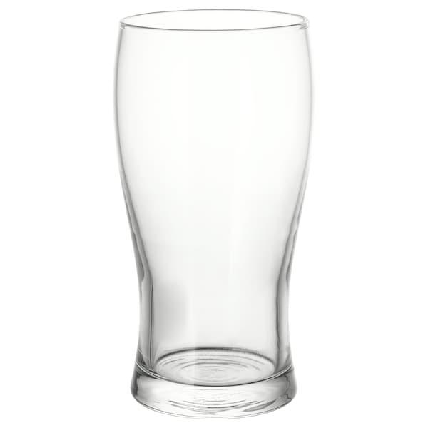 LODRÄT Bicchiere da birra, vetro trasparente, 50 cl