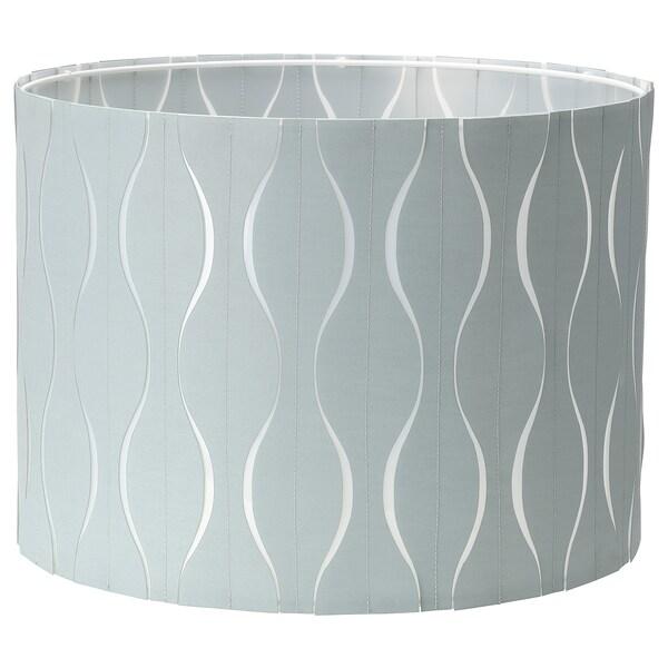 LÖKNÄS Paralume, blu/color argento, 42 cm