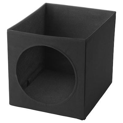LURVIG Casetta per gatti, nero, 33x38x33 cm