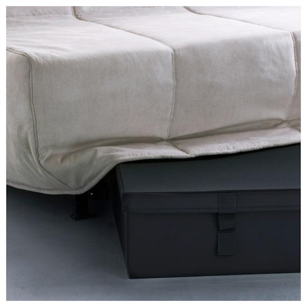 LYCKSELE contenitore divano letto 2 posti nero 92 cm 55 cm 21.0 cm