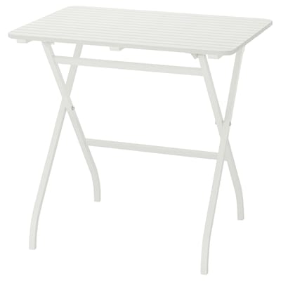 MÄLARÖ Tavolo da giardino, pieghevole bianco, 80x62 cm