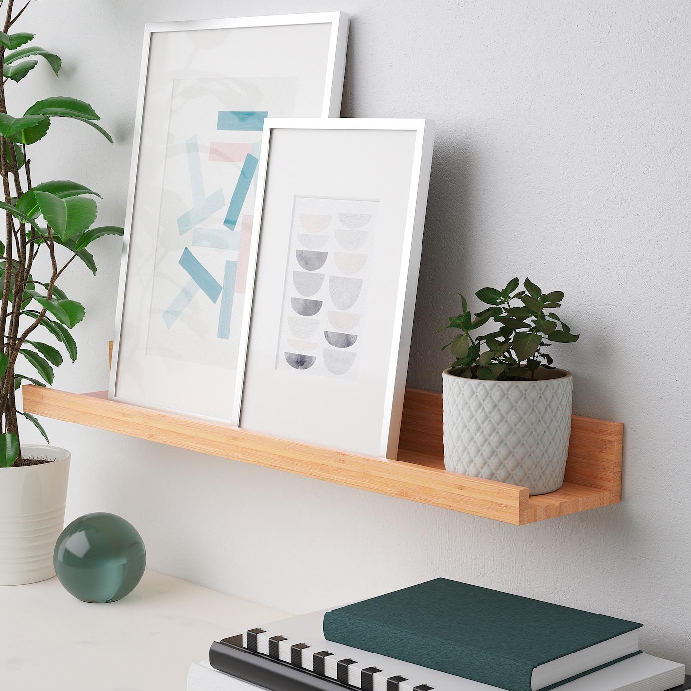 Maleras Mensola Per Quadri Bambu 75 Cm Ikea Svizzera