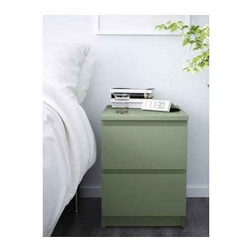 malm cassettiera con 2 cassetti - verde chiaro - ikea - Rivestire Cassettiera Malm