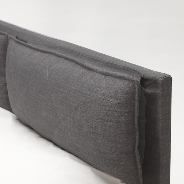 Fodera Per Testata Letto Matrimoniale Ikea.Malm Fodera Per Testiera Con 2 Cuscini Skiftebo Grigio Scuro