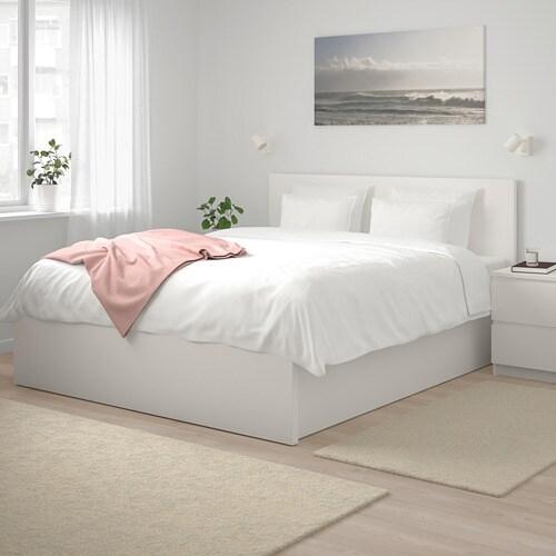 Ikea Malm Letto Matrimoniale Contenitore.Malm Struttura Letto Con Contenitore Bianco