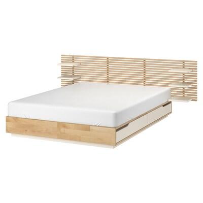 MANDAL struttura letto con testiera betulla/bianco 202 cm 160 cm 200 cm 160 cm