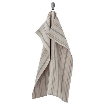 MARIATHERES Strofinaccio, lino beige/a righe, 50x70 cm