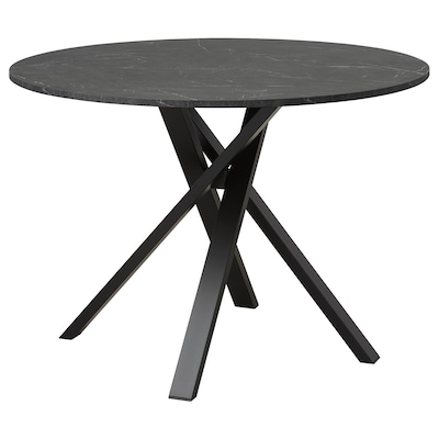 MARIEDAMM Tavolo, nero effetto marmo, 105 cm