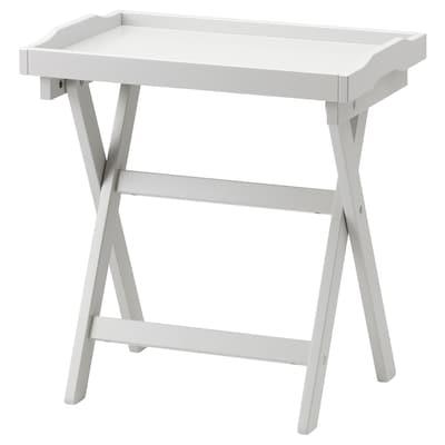 MARYD Tavolino vassoio, grigio, 58x38x58 cm